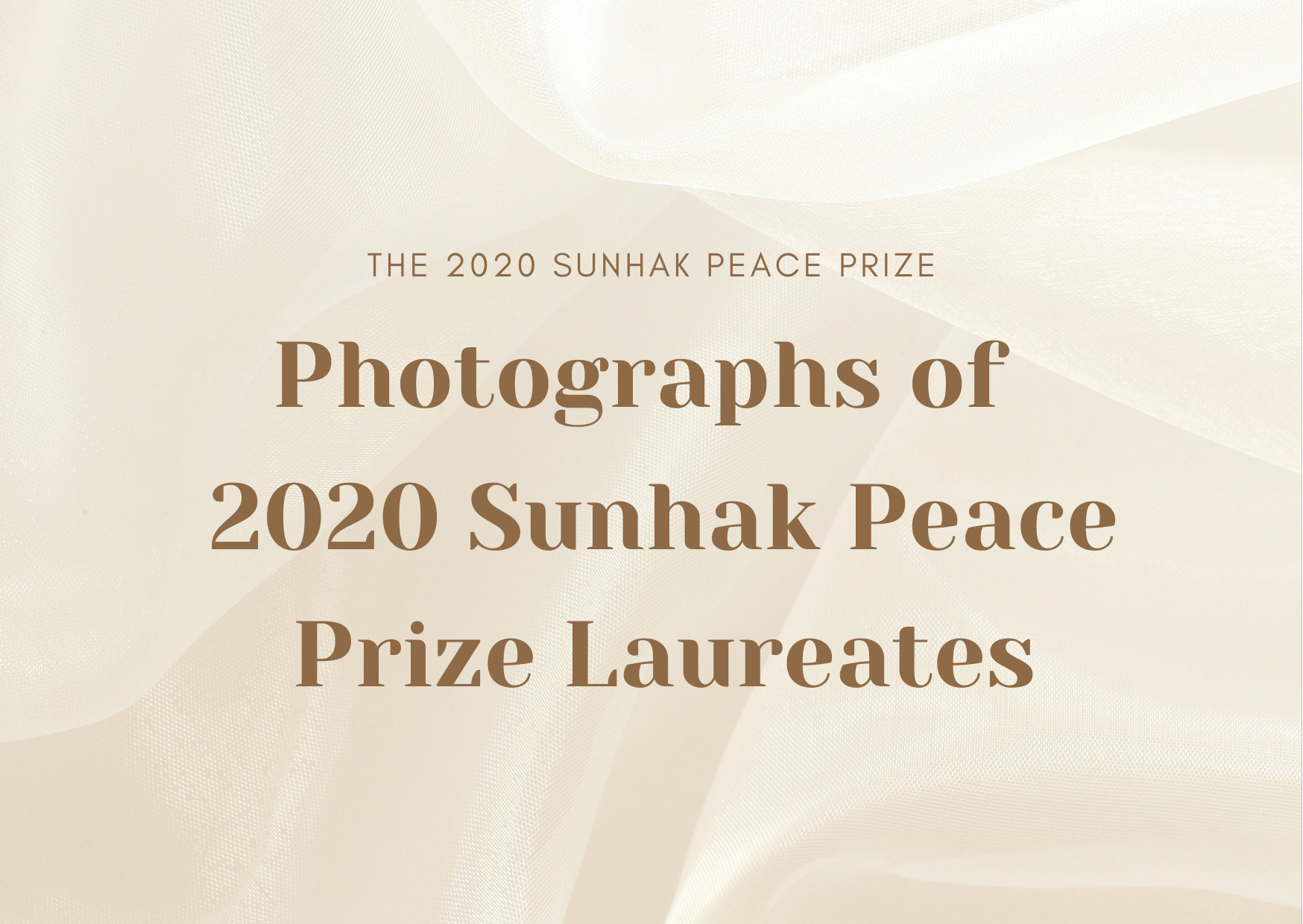 Photographs of 2020 Sunhak Peace Prize Laureates 썸네일