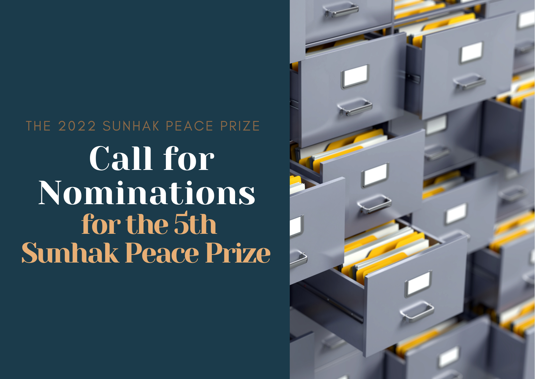 """""""The Sunhak Peace Prize Committee is accepting nominations for the 5th Sunhak Peace Prize"""" 썸네일"""